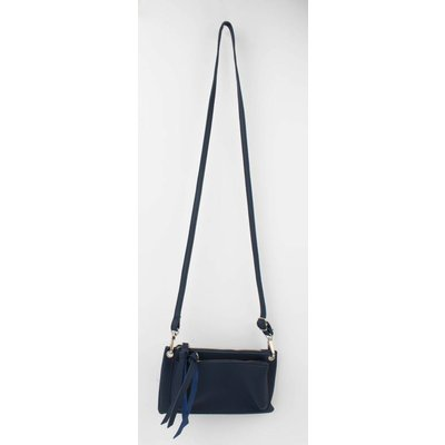 "Cross body bag ""Double pocket"" blue"