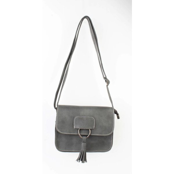 "Cross Body Tasche ""Charlotte"" grau"