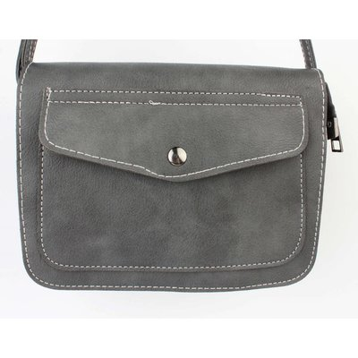 "Crossbody tas ""Pocket"" grijs"