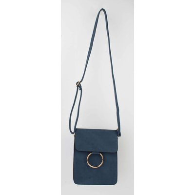 "Cross body bag ""double ring"" blue"
