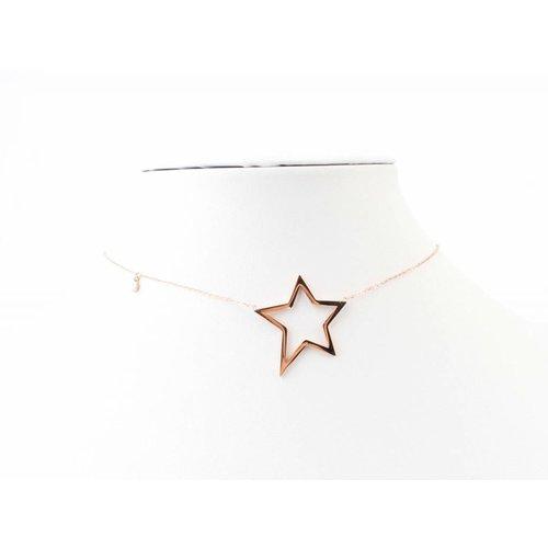"""Halskette """"Stern"""" Edelstahl rosé"""