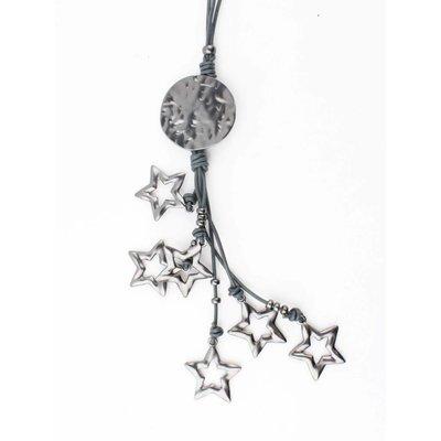 """Long necklace """"Jenna"""" grey"""