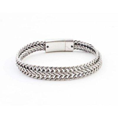 "Stalen armband ""Nisa"" zilver"