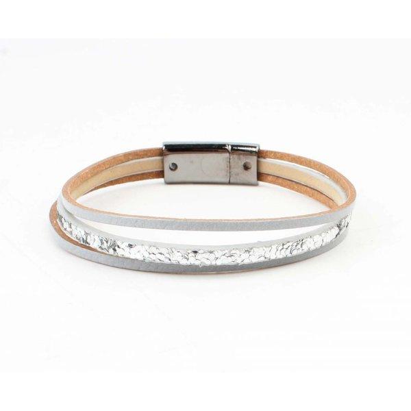 "Armband "" Louise"" zilver/grijs"