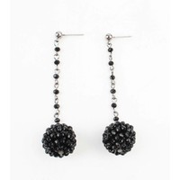 "Earring ""Rhinestone ball"" anthracite"
