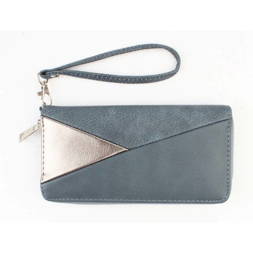 """Wallet """"Triangle"""" blue"""