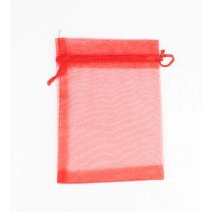 Organza Beutel rot M pro 50 Stück