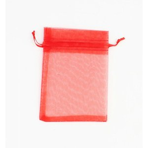 Organza bag red S, per 50pcs.