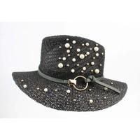 "Hat ""pearls"" black"