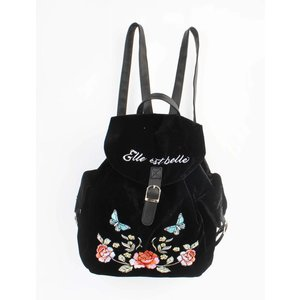 "Backpack ""Velvet rose"" black"