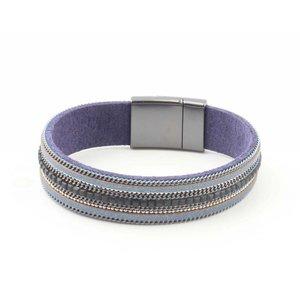 "Armband ""Ketting & Strass"" blauw"
