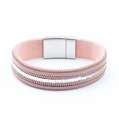 "Armband ""Kette & Strass"" rosa"