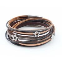 "Wrap bracelet ""Star"" brown"