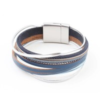 "Bracelet ""Multi rows"" blue"