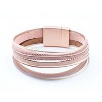 "Armband ""Multi-Reihen"" rosa"