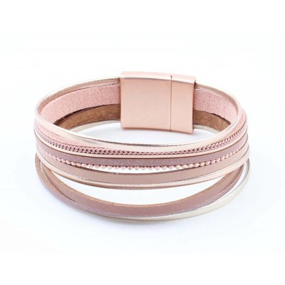 "Bracelet ""Multi rows"" pink"
