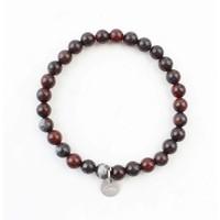 Bracelet natural stone red