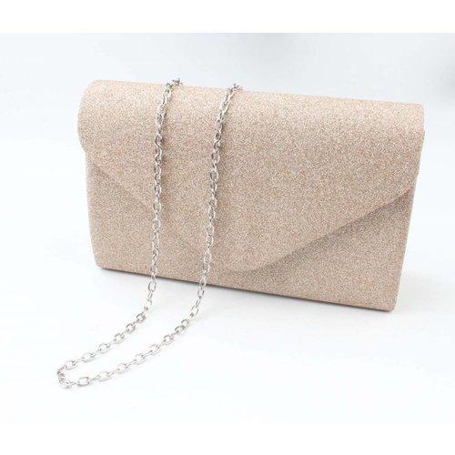 """Envelop tas """"Chique"""" goud"""