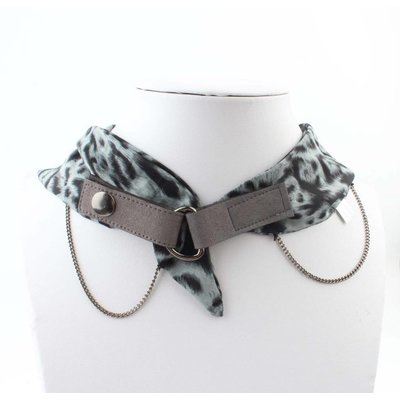 "Bandana ""Chain & Studs"" grey"