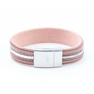 "Bracelet ""Necklace & Rhinestone"" pink"
