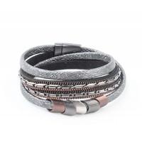 "Wrap bracelet ""Scales"" anthracite"