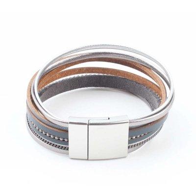 "Bracelet ""Multi rows"" grey"