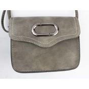 """Crossbody bag """"Broken oval"""" grey"""