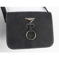 "Crossbody bag ""Hang ring"" black"