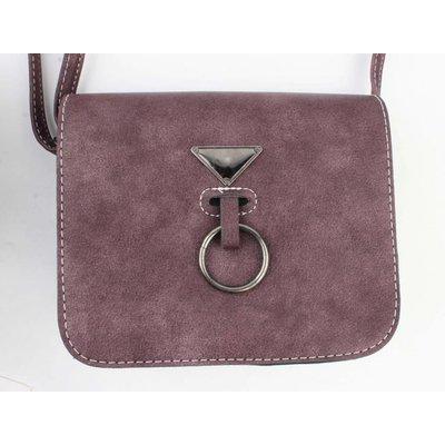 "Crossbody Tasche ""Hang Ring"" Aubergine"
