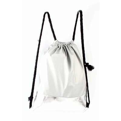 """Backpack """"Silver patched"""" silver"""