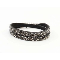 "Multifunctionele armband ""Strass"" grijs"