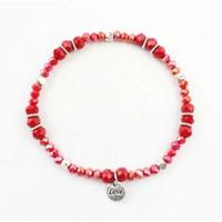 "Rhinestone bracelet ""Ramona"" Red"