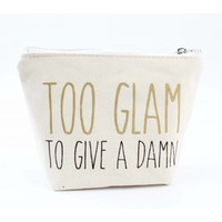 "Mini pouch ""Too Glam"" white"