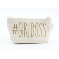 "Mini tasje ""Girlboss"" wit"