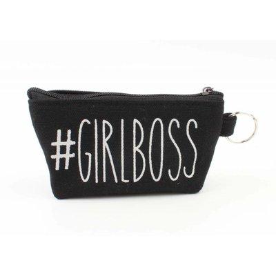 """Mini tasje """"Girlboss"""" zwart"""
