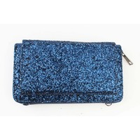 "Evening bag ""Sequins"" blue"