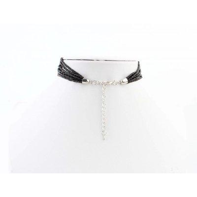 """Halskette """"Plüsch"""" schwarz"""