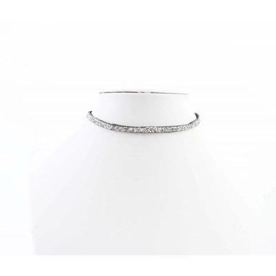 "Multifunction wrapbracelet ""Rhinestone"" silver"
