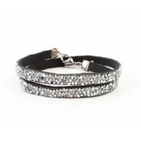 "Multifunctionele armband ""Strass"" zilver"