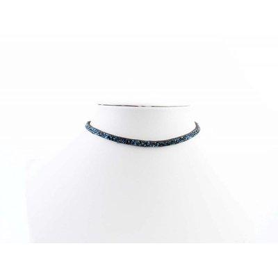"""Multifunction wrapbracelet """"Rhinestone"""" blue"""