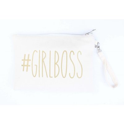 "Clutch ""Girlboss"" white"