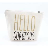 "Kosmetik Tasche ""Hallo Gorgeous"" weiß"