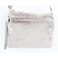 "Crossbody bag ""Fake fur"" light grey"