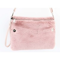 "Crossbody bag ""Fake fur"" pink"