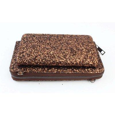 "Evening bag ""Sequins"" Brown"
