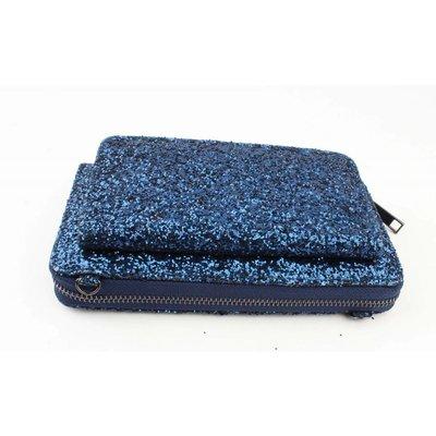 """Abendtasche """"Pailletten"""" blau"""