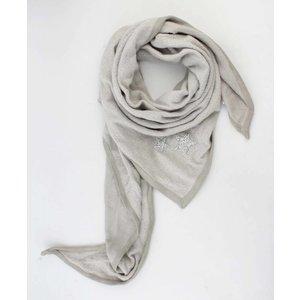 """Triangle scarf """"Stars"""" grey"""