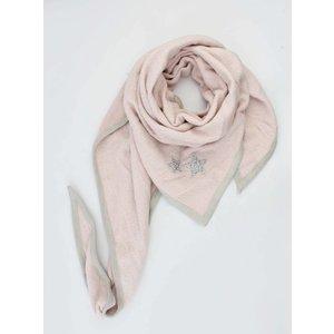 """Driehoek sjaal """"Sterren"""" roze"""