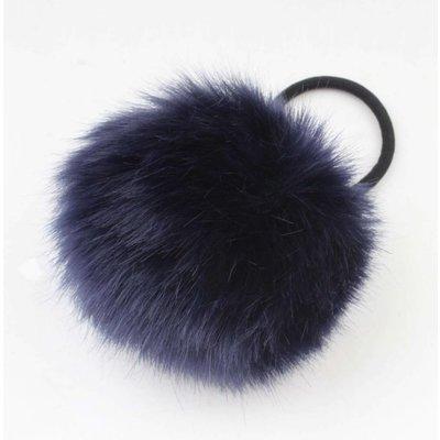 """Hair elastics """"Rabbits tail"""" blue, per 2pcs."""