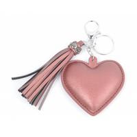 "Keychain ""Heart & Tassel"" pink"